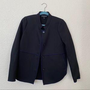 J.Crew Navy Button Blazer in Bi-Stretch Cotton